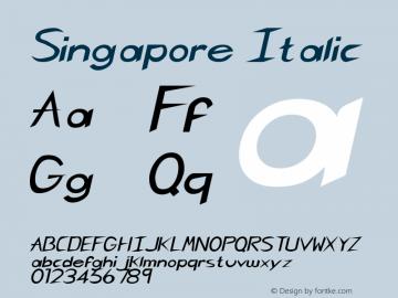 Singapore Italic Rev. 003.000 Font Sample