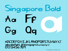 Singapore Bold Rev. 003.000 Font Sample