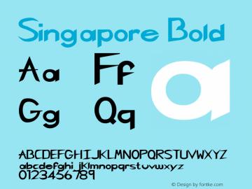 Singapore Bold Rev. 003.000 Font Sample