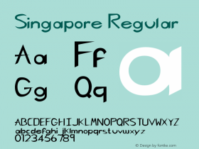 Singapore Regular Rev. 003.000 Font Sample