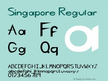 Singapore Regular Rev. 003.000 Font Sample