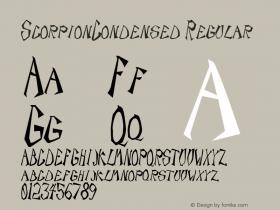 ScorpionCondensed Regular Rev. 003.000图片样张
