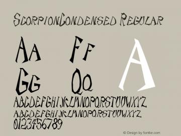 ScorpionCondensed Regular Rev. 003.000 Font Sample