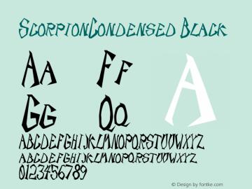 ScorpionCondensed Black Rev. 003.000 Font Sample