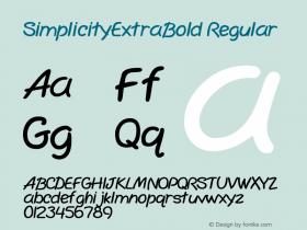 SimplicityExtraBold Regular Rev. 003.000 Font Sample