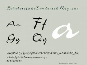 ScheherezadeCondensed Regular Rev. 003.000 Font Sample