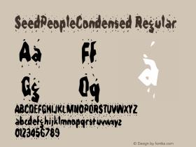 SeedPeopleCondensed Regular Rev. 003.000 Font Sample