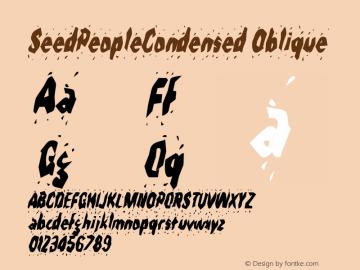 SeedPeopleCondensed Oblique Rev. 003.000图片样张