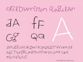 ChildWritten Regular 1.0 2004-06-26 Font Sample
