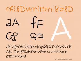 ChildWritten Bold 1.0 2004-06-26 Font Sample