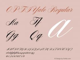 OPTIYale Regular Version 001.000 Font Sample