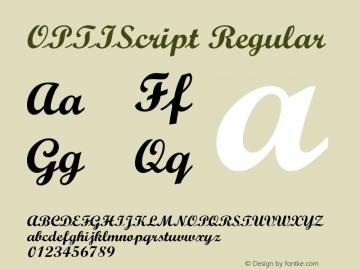 OPTIScript Regular Version 001.000 Font Sample