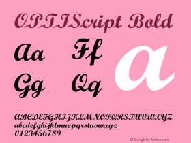 OPTIScript Bold 001.000 Font Sample
