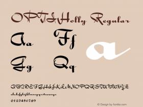 OPTIHolly Regular Version 001.000 Font Sample