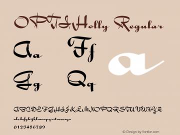 OPTIHolly Regular Version 001.000图片样张