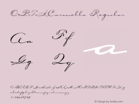 OPTICarmella Regular Version 001.000 Font Sample