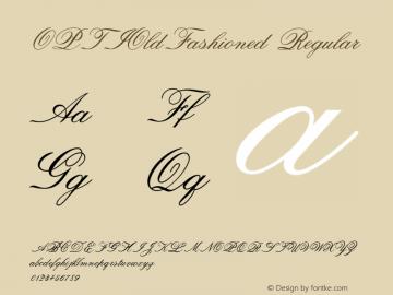 OPTIOldFashioned Regular Version 001.000 Font Sample