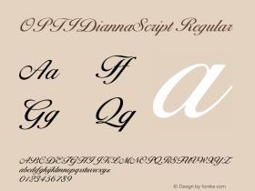 OPTIDiannaScript Regular Version 001.000 Font Sample