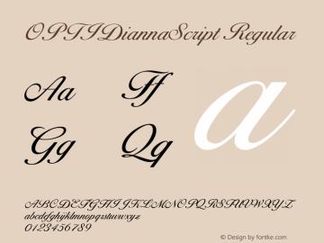OPTIDiannaScript Regular Version 001.000图片样张