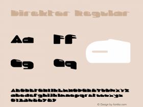 Direktor Regular Version 1.0; 2003; initial release Font Sample