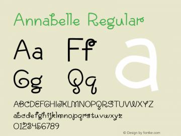 Annabelle Regular Version 1.000 2004 initial release Font Sample