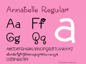 Annabelle Regular Version 1.000 2015 initial release Font Sample