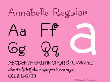 Annabelle Regular Version 1.000 2015 initial release Font Sample