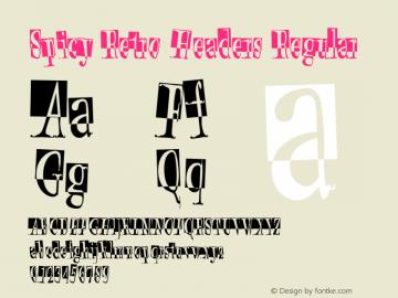 Spicy Retro Headers Regular 001.000 Font Sample