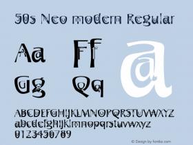 50s Neo modern Regular 001.000 Font Sample