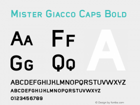 Mister Giacco Caps Bold Version 001.000 Font Sample
