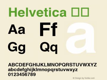 Helvetica 粗体 6.1d18e1 Font Sample