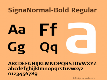 SignaNormal-Bold Regular 004.301图片样张