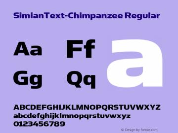 SimianText-Chimpanzee Regular Version 001.000 Font Sample