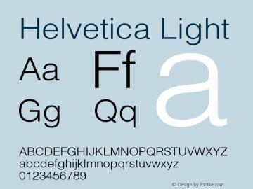 Helvetica Light 6.0d1e1 Font Sample