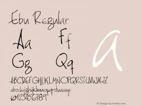 Ebu Regular Version 1.00 Font Sample