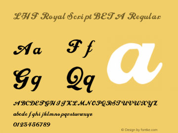 LHF Royal Script Font Family|LHF Royal Script-Handwriting Typeface
