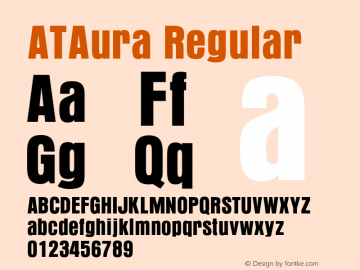 ATAura Regular 1.0图片样张