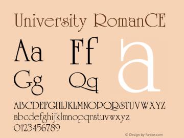 University RomanCE Version 001.000 Font Sample