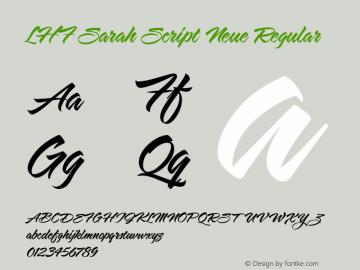 LHF Sarah Script Neue Regular Macromedia Fontographer 4.1.5 4/21/03图片样张