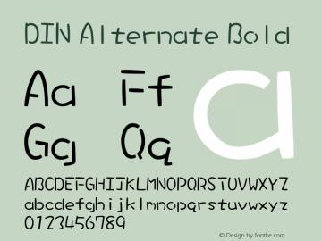 DIN Alternate Font,DIN Alternate Bold Font,DINAlternate-Bold