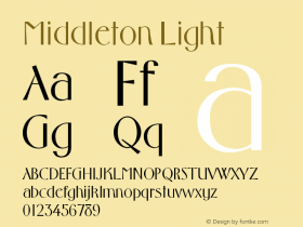 Middleton Light Version 001.000 Font Sample