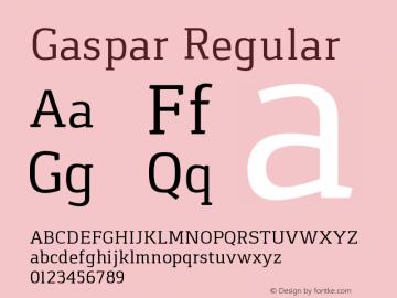 Gaspar Regular Version 1.000 2012 initial release Font Sample
