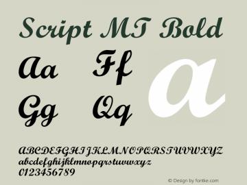 Script MT Bold 001.000 Font Sample