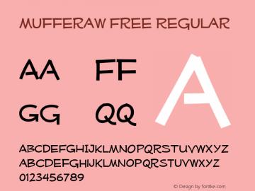 Mufferaw Free Regular Version 2.100 2004 Font Sample