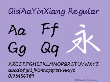 QisiAaYinXiang Regular Version 1.00 Font Sample