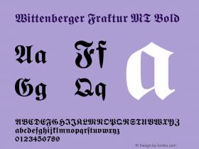 Wittenberger Fraktur MT Bold Version 001.001 Font Sample