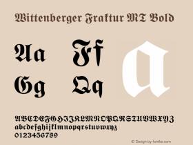 Wittenberger Fraktur MT Bold 001.000 Font Sample