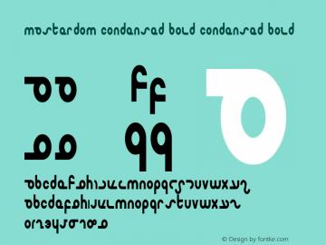 Masterdom Condensed Bold Condensed Bold 1 Font Sample