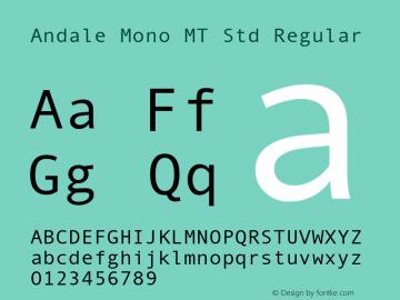 Andale Mono MT Std Regular Version 1.000;PS 001.000;hotconv 1.0.38图片样张
