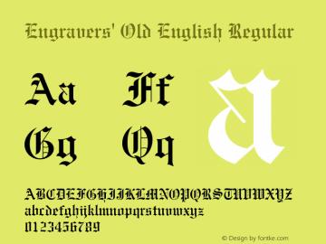 Engravers Old English Regular 20 10 Font Sample